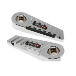 NOSILCI ZA NOGE - SSP EVO CNC-style, MBK Booster / Yamaha BWs, krom