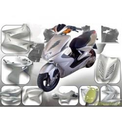 Body kit -DMP- Yamaha Aerox - metalno srebrn