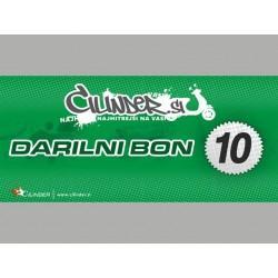 DARILNI BON -CILINDER.SI- Vrednost 10€