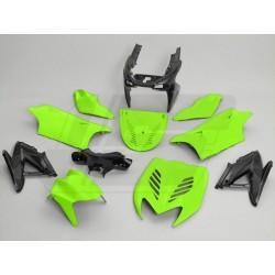 Body kit -TNT- Yamaha Aerox, MBK Nitro - neon zelena / črna