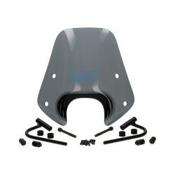 VETROBRANSKO STEKLO - PIAGGIO - Sport Smoke Piaggio ZipII 50-100-125 / Pritrdilni set v črni barvi