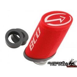 Zračni filter -BCD- Priključki 28/34/50mm; mere: 120x110X70mm - Rdeča