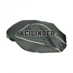 Prevleka za sedež - chesterfield črna z vzorcem - Piaggio Zip 2006 4t 50cc