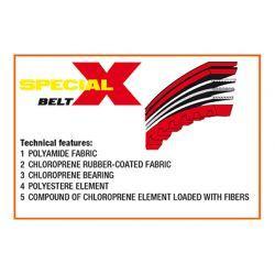 Jermen - MALOSSI - X special belt - Piaggio Zip 4t