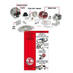 """CILINDERKIT - MALOSSI MHR """"Testa Rossa"""" 94cc za MINARELLI 50cc 2t LC Ø 52mm, aluminium, 7 kanalov, hod 44mm, ojnica 90,0mm, 1"""