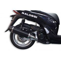 IZPUH - MALOSSI RX, Black Edition, za HONDA 300 SHI I i.e. (NF05E) 4t,LC silver, aluminium silencer, barva: Črna , e-norm, z k