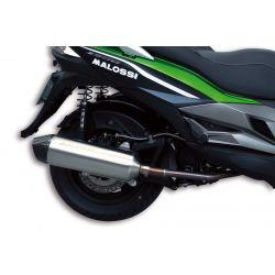 IZPUH - MALOSSI RX, za KYMCO 300 Dink Street /Downtown/Super Dink (SK60 /SK60A)/ KAWASAKI J300 4t, LC, i.e., silver, stainless