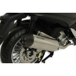 IZPUH - MALOSSI RX, za PIAGGIO 300 Beverly i.e. 2010 (M692M) 4t, LC, silver, stainless steel silencer, e-norm, z karbonskim po