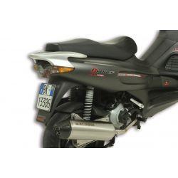 IZPUH - MALOSSI RX, za GILERA 125 Runner VX 05 /200 Runner VXR 05 4t, LC, silver, stainless steel silencer, e-pass, z karbonski