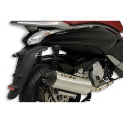 IZPUH - MALOSSI RX, z katalizatorjem za PIAGGIO 350 Beverly Sport Touring i.e. 4t, LC, srebrn, stainless steel silencer, e-norm