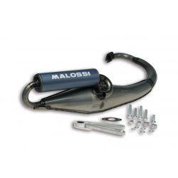 IZPUH - MALOSSI Flip, za MBK Booster R/NG/YAMAHA Bws/NG 50cc 2t LC coated, aluminium silencer, barva: sivo moder, E-pass