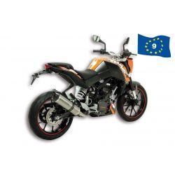IZPUH - MALOSSI GP MHR Replica, za KTM 125 Duke 4t LC i.e. aluminium, black/silver, E-pass, vključen nosilec, brez katalizato