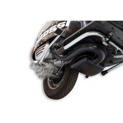 """IZPUH - MALOSSI """"Power Classic Exhaust"""", za Vespa P80-150X /PX80-150E/Lusso/MY/P150S steel, črn, e-pass"""