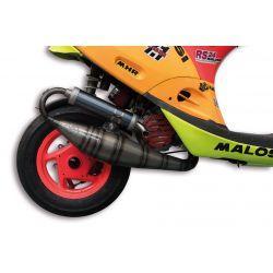 """Izpuh - MALOSSI MHR Team 3, za 94cc """"Flange Mount / Testa Rossa"""", za GILERA /PIAGGIO 50cc 2t"""