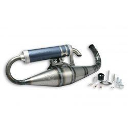 Izpuh - MALOSSI MHR II, za MHR TEAM II cylinder, za MINARELLI 50cc 2t AC /LC coated, aluminium silencer, barva: sivo modra
