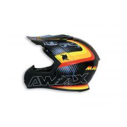 ČELADA - Malossi BLACK Off ROAD HELMET - BRIGHT ( L )