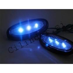 Smerniki -BGM- LED BLUE (črno ohišje za gilera runner krmilo)