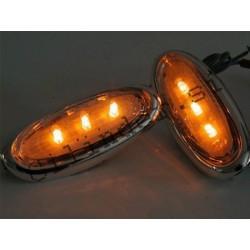 Smerniki -BGM- LED ORANGE (črno ohišje za gilera runner krmilo)